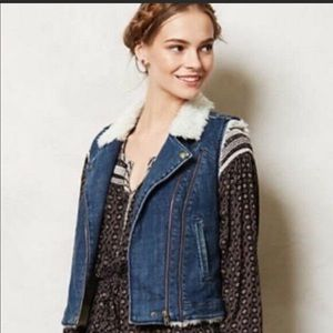 Sherpa Denim Vest by Daughters of The Liberation